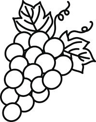 Coloriage Les Fruits Coloriage De RaisinL