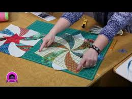 Sew Easy: Twisted Pinwheel Template - YouTube | Patchwork ... & In this Quilting Quickly tutorial, Fons & Porter sewing specialist Colleen  shows you how to make the quilt-as-you-go table runner