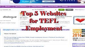 top websites for tefl employment top 5 websites for tefl employment