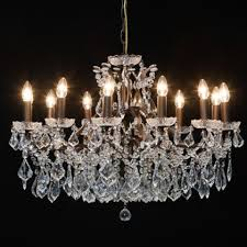 bronze shallow chandelier 12 branch with glass droplets and great finish