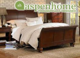 Aspen Home Cambridge Sleigh Bed Brown