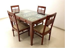 lovely modern dining table design with glass top dining table design images