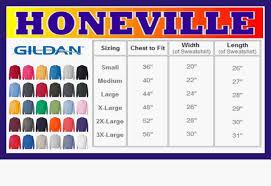 Gildan Sweatshirt Size And Color Chart
