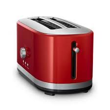 kitchenaid kmt4116 4 slice long slot toaster empire red