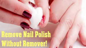 How To Remove Nail Polish Without Nail Polish Remover Four Easy Ways at  Home - YouTube