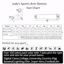 Arm Sleeve Size Chart Us 410 0 Compression Sports Arm Sleeve Camo Baseball Football Wicking Neon Sleeves Youth Baseball Sleeves In Arm Warmers From Sports Entertainment