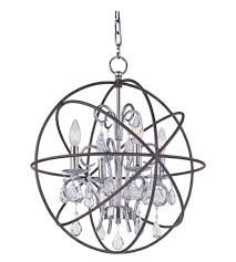 maxim 25142arpn orbit 4 light 19 inch anthracite and polished nickel chandelier ceiling light