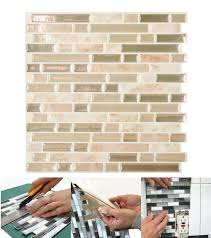 Smart Tiles Kitchen Backsplash Smart Tiles Sabbia 1006 In X 1000 In Peel And Stick Mosaic