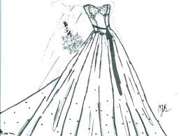 Coloring Pages Wedding Dress Coloring Pages Dresses Page Pic