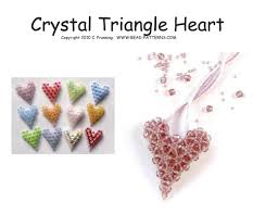 crystal triangle puffy heart