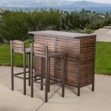 wood patio bar set. Patio Bar Set. Plain Set Lively 3 Piece Throughout Wood R