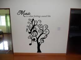 music tree wall art decal  wall decal  wall art decal sticker