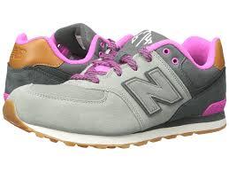 new balance girls. new balance kids 574 (big kid) (grey/pink 2) girls shoes