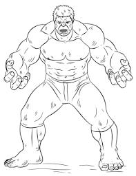Kleurplaten Hulk