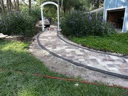 exciting flagstone pavers walkways and edging ideas with gate also plants for garden also lawn