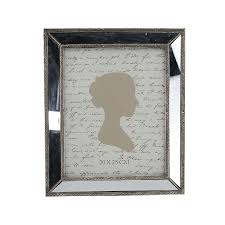 mirrored bevelled photo frame in antique silver with detailed edge 8x10 in now
