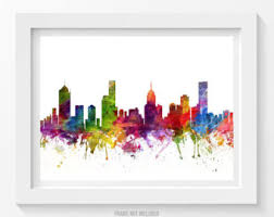 Small Picture Melbourne Map Art Print Melbourne Poster Map of Melbourne
