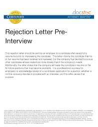 Best Photos Of Employee Rejection Letter After Interview Job