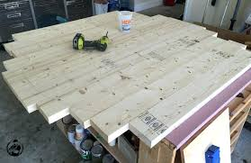 how to make a round table top round trestle dining table step 6