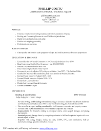 Property Insurance Adjuster Sample Resume Field Adjuster Sample Resume Soaringeaglecasinous 2