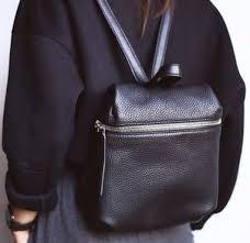 bag black leather backpack rucksack sweater zip black bag leather bag backpack backpack silver purse
