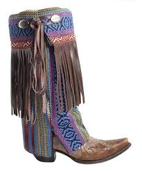 blue brown fringe riot boot rugs