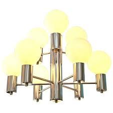 mid century chandelier west elm arc orb
