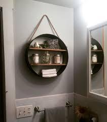 Rustic bathroom shelf, from Hobby Lobby - in love!