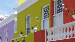 google office video. bright houses in bokaap region of cape town hd stock video clip google office