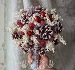 Зимние букет невесты своими руками 6