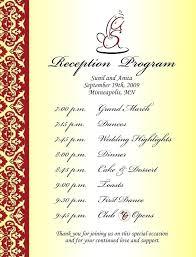 Enchanting Wedding Reception Program Template Free Photos Templates