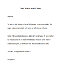 thank you letter to donors thank you letters for donations 7 free documents in word pdf