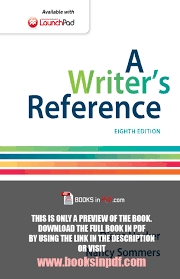 A Writers Reference 8th Edition Pdf By Diana Hacker Free Download