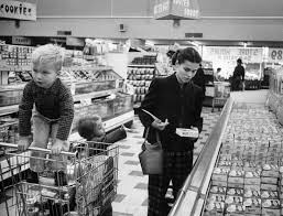 life before equal pay day portrait of a working mother in the working mother jennie magill shopping her children at the super market