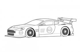 Small Picture Aston Martin DBR9 Race Car Coloring Page Free Online Cars