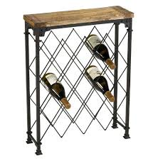 Wine rack table Bistro Reclaimed Wood Oxidized Iron Wine Rack Console Table Wayside Furniture Reclaimed Wood Oxidized Iron Wine Rack Console Table Driftwood