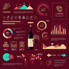 Wine Infographic Design Linear Graphics Web Icons Wine