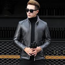 whole mudi leather jacket men coats brand high quality pu outerwear men business winter slim fit male jacket short stand collar jacket brand leather