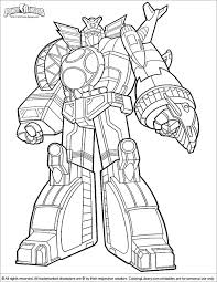 Small Picture Power Rangers Megazord Coloring Pages GetColoringPagescom