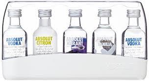 absolut flavoured vodka gift pack case of 5 x 5cl bottles