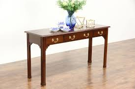SOLD Cherry Vintage Sofa or Hall Console Table Signed Harden