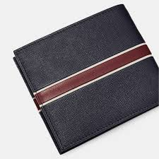 156362 mxw xc9m ted baker trave striped leather bifold wallet in navy