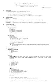 Middle School Band Lesson Plan Template Known Objectives ...
