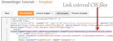 How to Insert Custom CSS Codes into Blogger Blog Template - Showeblogin