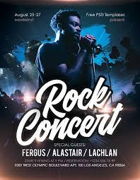 Concert Flyer Templates Free Rock Concert Live Event Free Flyer Template Freebie