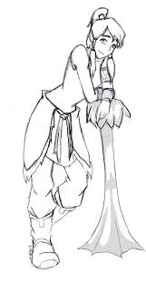 Avatar Coloring Pages Korra Anime Wolf By Willowwispwolf On