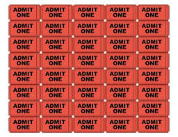 Admit One Ticket Template Free