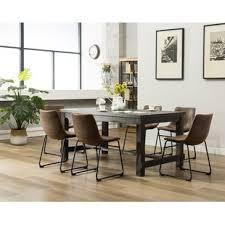 Modern dinner table Gray Quickview Allmodern Modern Industrial Dining Room Sets Allmodern