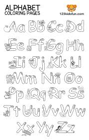 100+ worksheets that are perfect for check out our comprehensive collection of printables for teaching preschool and kindergarten children the let them have fun coloring the pictures that start with each letter of the alphabet or fill in the missing. Free Printable Alphabet Coloring Pages For Kids 123 Kids Fun Apps
