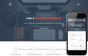 Portfolio Website Templates Awesome Website Template Like Freelancer Popteenus